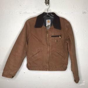 Carhartt Boy's Khaki Tan Cotton Jacket LG 10/12
